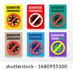 big set of concept coronavirus... | Shutterstock .eps vector #1680955300