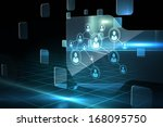 futuristic technology interface | Shutterstock . vector #168095750