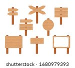 wooden signs and pointers set.... | Shutterstock .eps vector #1680979393