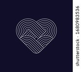abstract heart icon. line...   Shutterstock .eps vector #1680983536