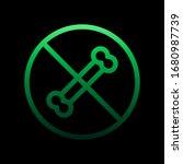 dog ban nolan icon. simple thin ...