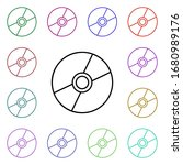cd disk multi color style icon. ...