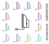 iron multi color style icon....