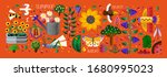 summer time  vector cute... | Shutterstock .eps vector #1680995023
