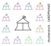 circus tent multi color style...