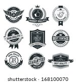 retro vintage badges and labels | Shutterstock .eps vector #168100070