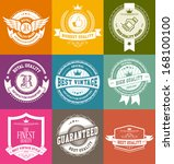 retro vintage badges and labels | Shutterstock .eps vector #168100100