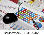 business finance chart with... | Shutterstock . vector #168100364