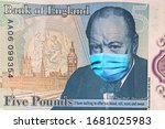 Banknotes 5 British Pounds With ...
