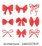 red decorative bows icon... | Shutterstock .eps vector #1681027819