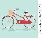 vintage bicycle vintage retro... | Shutterstock .eps vector #168104810