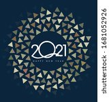 happy new year 2021 background... | Shutterstock .eps vector #1681052926