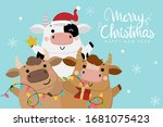 merry christmas and happy new... | Shutterstock .eps vector #1681075423