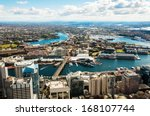 aerial view of darling harbour... | Shutterstock . vector #168107744