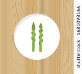 vegetable   fresh asparagus ... | Shutterstock .eps vector #1681098166