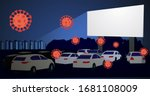 covid 19. movie theater for... | Shutterstock .eps vector #1681108009