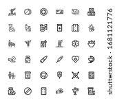 editable 36 pill icons for web... | Shutterstock .eps vector #1681121776