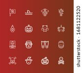editable 16 fear icons for web... | Shutterstock .eps vector #1681122520