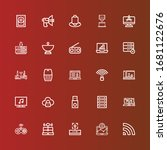 editable 25 wireless icons for... | Shutterstock .eps vector #1681122676