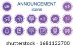 editable 14 announcement icons... | Shutterstock .eps vector #1681122700