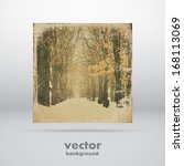 grunge abstract square banner ... | Shutterstock .eps vector #168113069