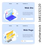 vector website template ...