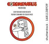 hand drawn coronavirus...   Shutterstock .eps vector #1681138939