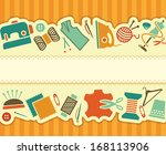 seamless banner on a sewing... | Shutterstock .eps vector #168113906
