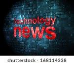 news concept  pixelated words... | Shutterstock . vector #168114338