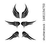 wing logo. vector emblem in... | Shutterstock .eps vector #1681156753