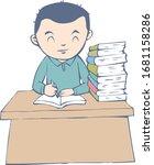 illustration of student...   Shutterstock .eps vector #1681158286