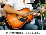 man is playing on acoustic... | Shutterstock . vector #16811662