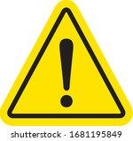 hazard sign icon vector triangle | Shutterstock .eps vector #1681195849