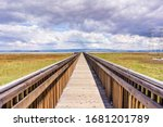 Wooden Boardwalk Going Over The ...