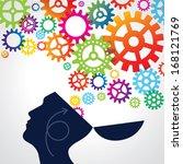 creative idea. conceptual... | Shutterstock .eps vector #168121769