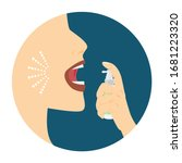 logo of mouth spray.woman's...   Shutterstock .eps vector #1681223320