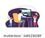 gamer and fans. cyber sports... | Shutterstock .eps vector #1681236289