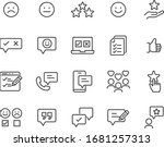 set of feedback icons  research ...   Shutterstock .eps vector #1681257313