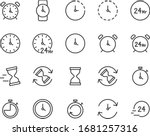 set of time icons  clock  watch ...   Shutterstock .eps vector #1681257316