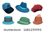 wide brimmed hats and...   Shutterstock .eps vector #1681259593