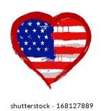 i love usa vector   Shutterstock .eps vector #168127889