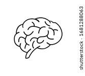 human brain vector icon....   Shutterstock .eps vector #1681288063
