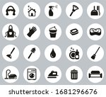 maid or housekeeper icons black ... | Shutterstock .eps vector #1681296676