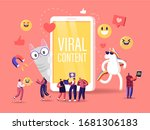 viral content concept. tiny... | Shutterstock .eps vector #1681306183