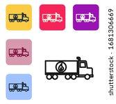 black line tanker truck icon... | Shutterstock .eps vector #1681306669