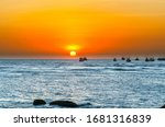 Sea Landscape At Sunset When...