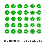 green tick icon set. profile... | Shutterstock .eps vector #1681327963