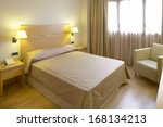 luxury hotel bedroom modern... | Shutterstock . vector #168134213