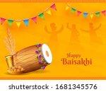 illustration of punjabi... | Shutterstock .eps vector #1681345576