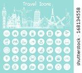 icons  travel info | Shutterstock .eps vector #168134558
